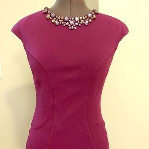Ted Baker Midi Sheath dress magenta S 2/4